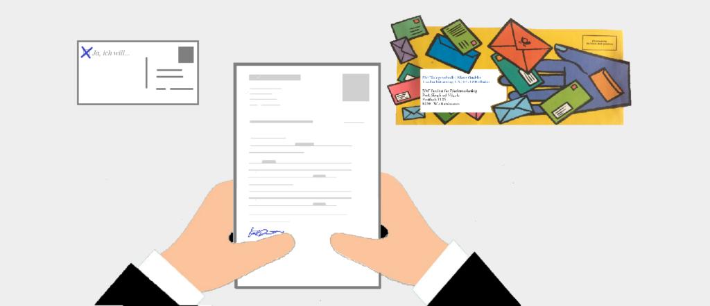 svBlog, kreativ Versand-Kuverts und Antwortkarte response-element