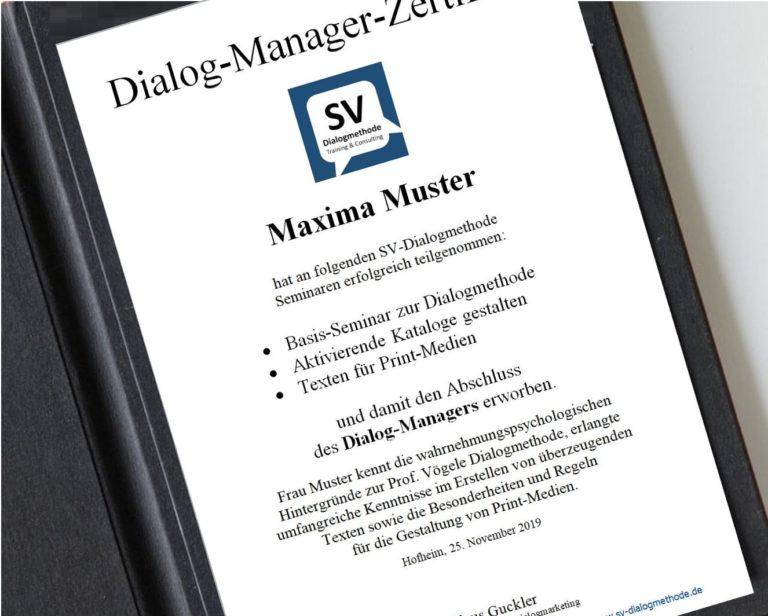Zertifikat Dialog-Manager