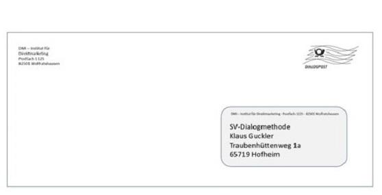 SV-Dialogmethode svBlog DIN Lang Kuvert Direktmarketing